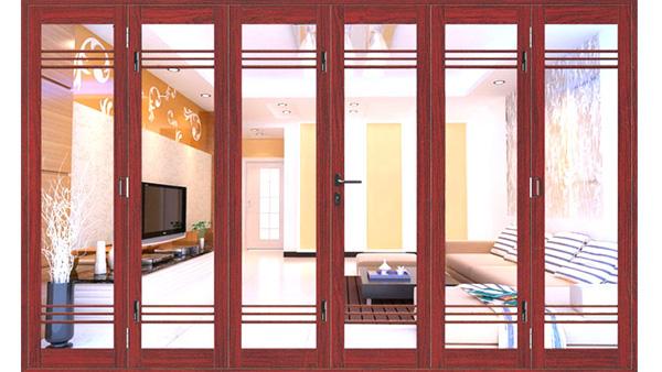 HOT 2020] Báo giá mẫu cửa nhôm xingfa vân gỗ, giả gỗ CAO CẤP TEM ĐỎ hệ 55,  93 chính hãng